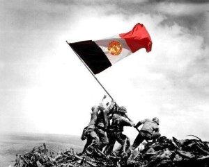 Som Unitedsupporter er det aldri snakk om å legge seg ned, men å halde flagget høgt heva uansett kva som skjer!